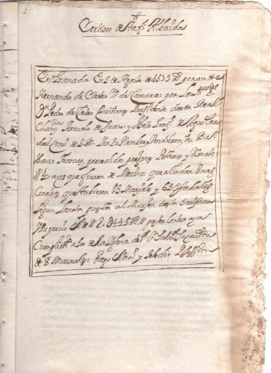 Escritura de venta de 4 aras que fueron propiedad de moriscos que tuvieron 13 marjales y 63 estadales