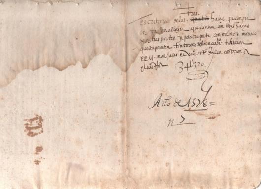 Escritura de venta de 4 aras que fueron propiedad de moriscos en el pago de Tafi Albayda de Granada