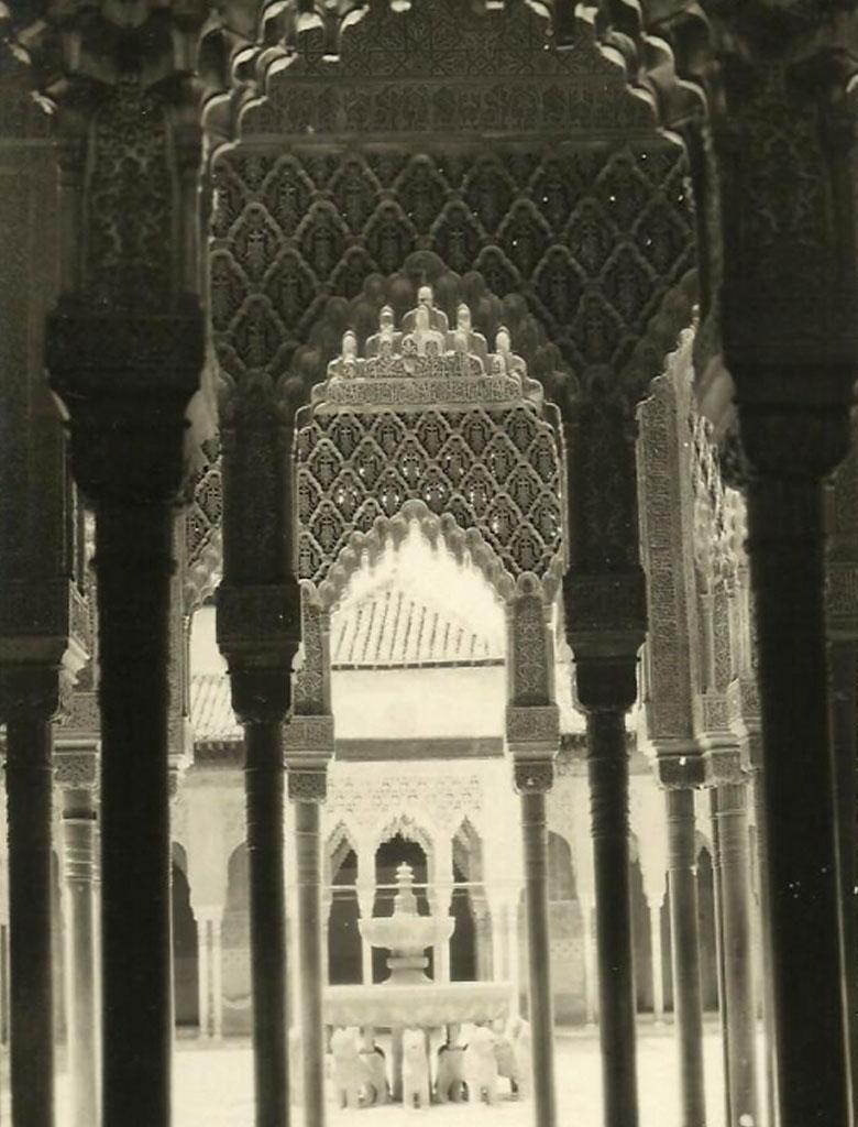 Fotografia de Joaquin Castells - Patio Leones Alhambra, 1917