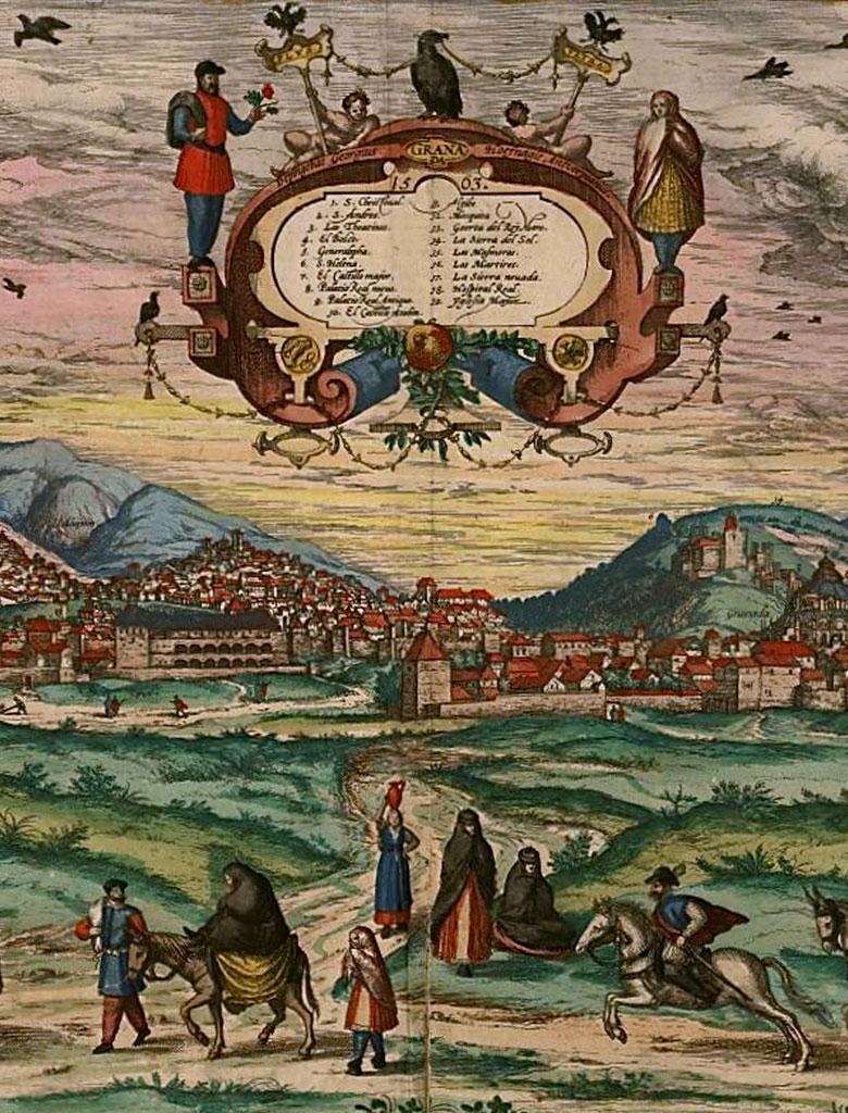 Grabado de Joris Hoefnagel - Granada, 1563