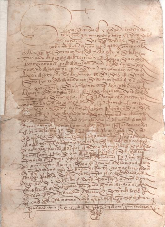 1523. Escritura de venta de una huerta de 8 marjales de tierra de riego en el pago de la Garnatilla
