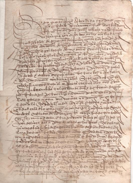 1529. Escritura de venta de una casa en la parroquia de San José