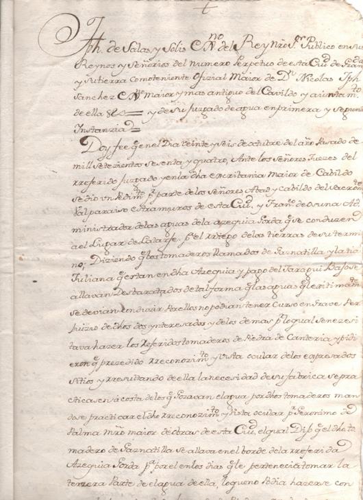 1767. Copia del testimonio de la obra mandada hacer en el Jornadero de Jaque de Garnatilla