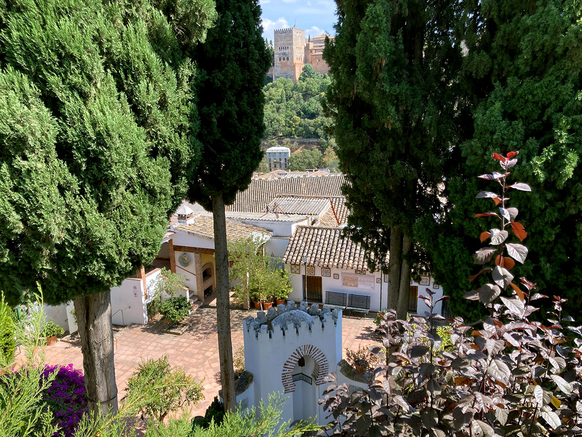 Carmen de Aben Humeya - Vista de la Alhambra