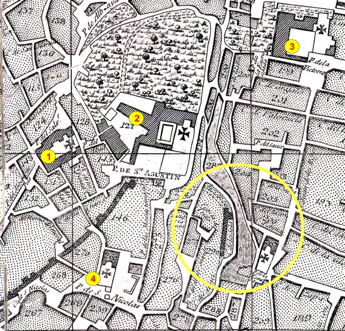 Detalle del Plano de Dalmau (1796)