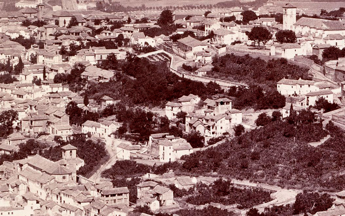Detalle de fotografía de Jean Laurent (h 1872)