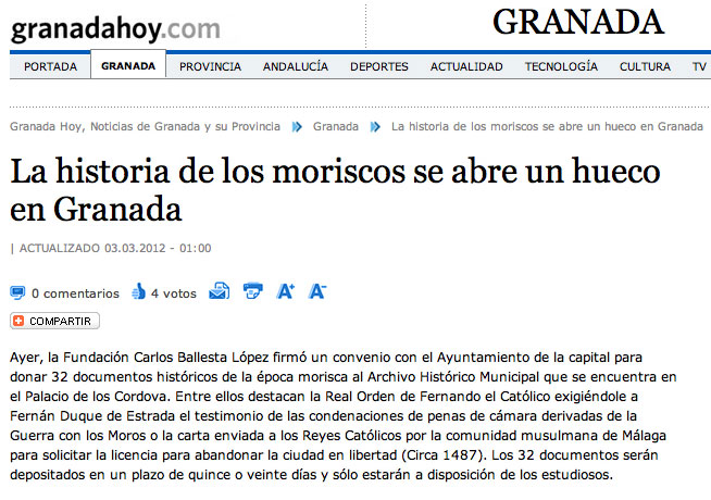 La historia de los moriscos se abre un hueco en Granada